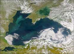 Черное море (фото NASA)