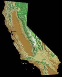 Калифорния, вид из космоса (изображение с сайта www.answers.com)