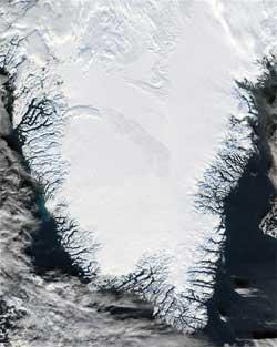 Гренландия (фото NASA)