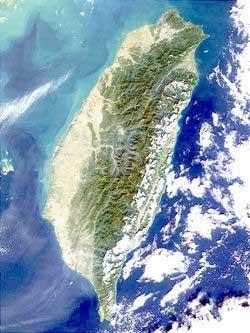 Тайвань (снимок NASA)