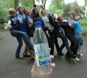 Зовнішній вигляд пляшки Belu Mineral Water (фото з сайту belu.org)