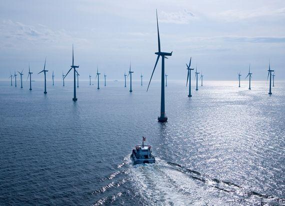 Огромная ветряная ферма Южной Кореи